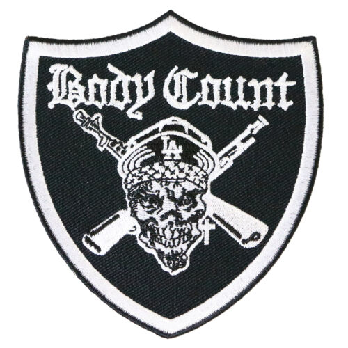 Authentic BODY COUNT Pirate Embroidered Sew Glue Iron On Patch NEW