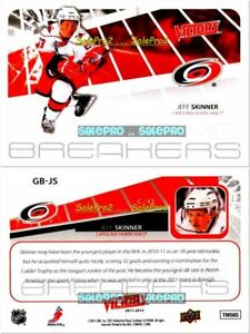 UD-VICTORY-2011-JEFF-SKINNER-NHL-CAROLINA-HURRICANES-MINT-GAME-BREAKERS-GBJS