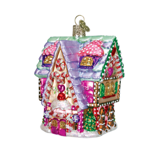 Old-World-Christmas-CUPCAKE-COTTAGE-20029-N-Glass-Ornament-w-OWC-Box
