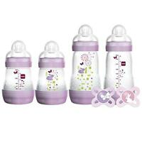 Mam Feed & Soothe Bottle & Pacifier Gift Set, Girl, 0+ Months, 6-count, New, Fr