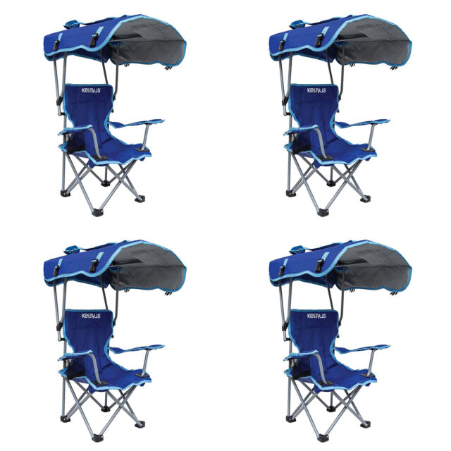 Cool Kelsyus Kids Original Canopy Folding Backpack Lounge Chair Blue 4 Pack Camellatalisay Diy Chair Ideas Camellatalisaycom