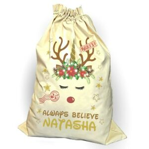 Image is loading Sale-Unicorn-Santa-Sack-Christmas-Reindeer-Xmas-Bag- 2ff7c6fe71ae