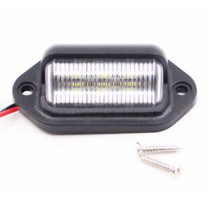 6-LED-Heck-Kennzeichenbeleuchtung-Lampe-Boot-LKW-Anhaenger-Caravan-12-V