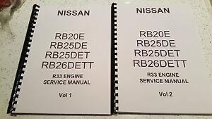 nissan r33 skyline engine manual rb20e rb25de rb25det rb26dett ebay rh ebay co uk rb25det workshop manual rb25det workshop manual