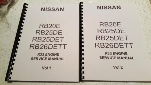 MOTORE NISSAN r33 Skyline MANUALE rb20e rb25de rb25det RB 26 dett