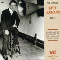 Josef Hofmann - Complete Josef Hofmann 3 [new Cd] on Sale
