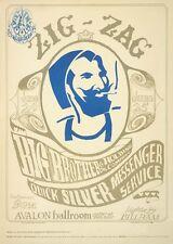 Concert Posters # 17 - 8 x 10 Tee Shirt Iron On Transfer BB, QMS, Zig-Zag man