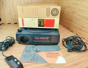 Vintage-Kodak-Carousel-650-Projector-with-remote-and-2-Carousels-FOR-PARTS