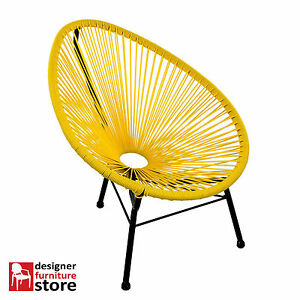 Replica-Acapulco-Leisure-Chair-Yellow-Seat-Black-Frame-Kids-Version