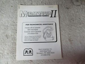 MERIT-MEGATOUCH-2-ii-video-game-manual
