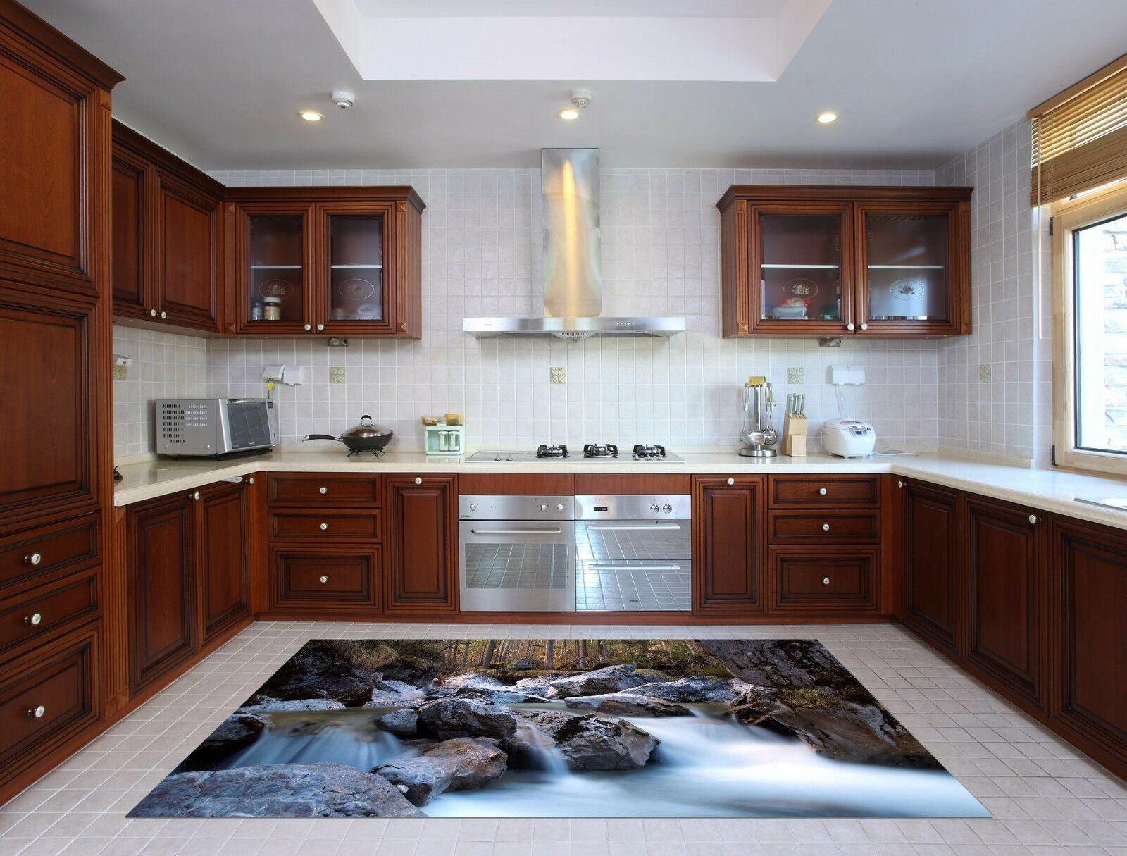 3D Stone Water 788 Kitchen Mat Floor Murals Wall Print Wall Deco UK Carly
