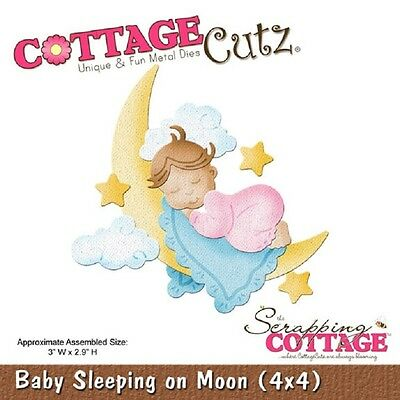 COTTAGE CUTZ DIES - 3D Cutting die SLEEPING ON MOON  4x4- CC4x4-579
