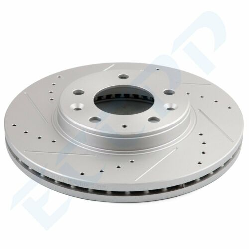 For 2003-05 Mazda 6 Front Rear drilled Slotted Brake Discs Rotors Ceramic Pads