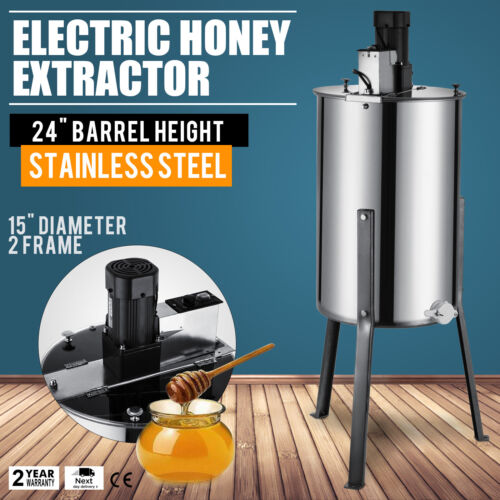 2/4 Frame Honey Extractor Stainless Steel With Cover Honey Outlet Legs