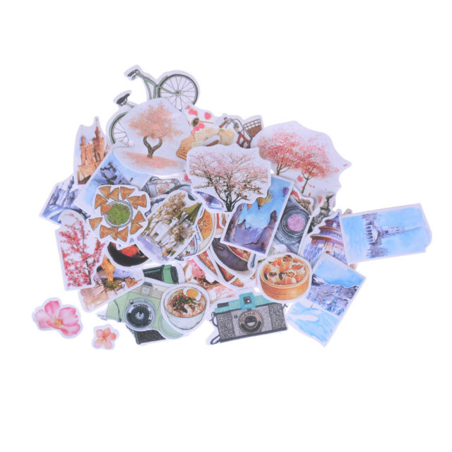 1 Pack Stickers Flower Food Album Scrapbook Diary Photo Letter Sticker Decor SP