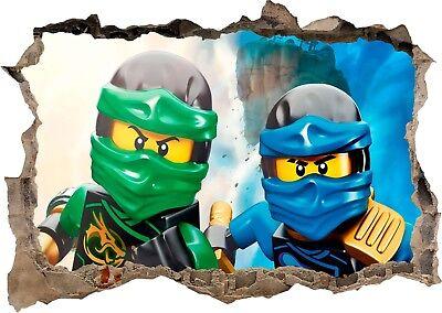Lego Ninjago Sensei Lloyd Jay Kai 3D se estrelló Cartel De Pegatinas De Pared Calcomanía Mural 972