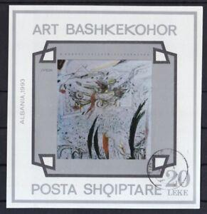 Albanien-gestempelt-MiNr-Block-98-Europa-Zeitgenoessische-Kunst