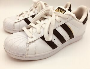 Details about Adidas Superstar J White/Black/White (GS) (C77154) Ortholite Sole