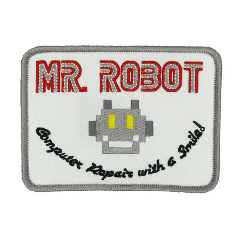 Mr Robot TV Series White PatchIron On//Sew OnUS Seller FREE Shipping