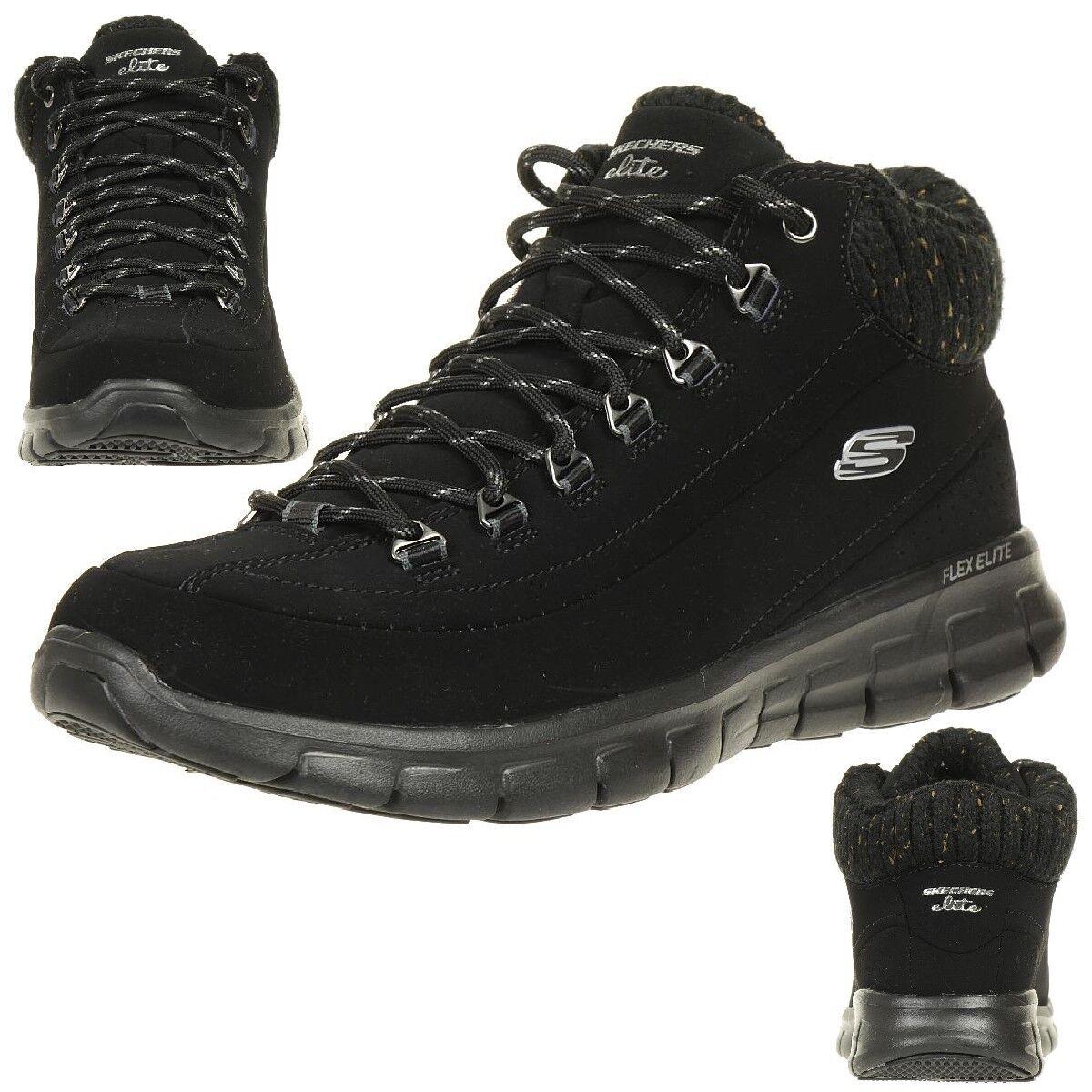 Skechers Synergy invierno Nights botas señora invierno zapatos forradas negro bbk