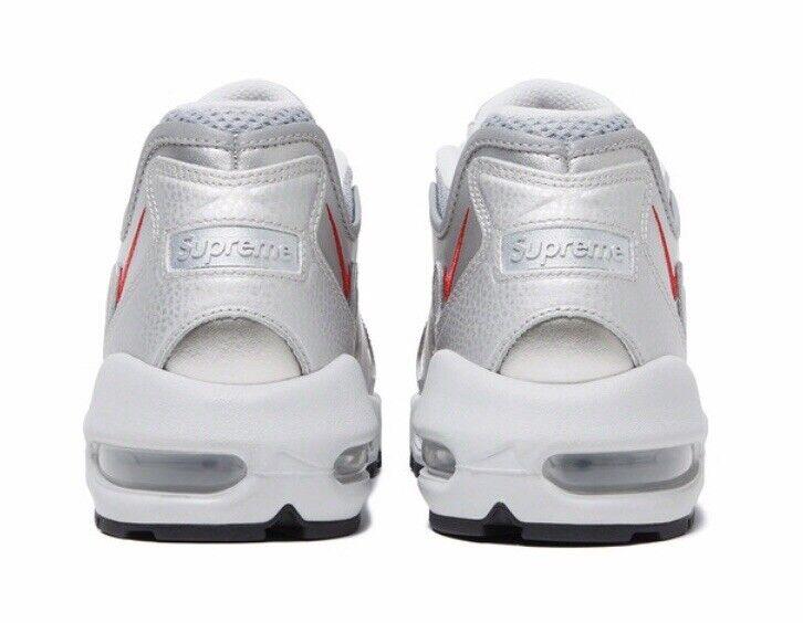 BNWT Supreme x Nike Air Max 96 Silver UK9 Sold Out BNIB SS21 Jordan 95 Authentic