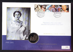 Isle-of-Man-IOM-Queen-Mother-Memorial-Coin-Cover-Royalty-Royal-2002-Numisbrief