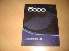 CATALOGUE Saab 9000 CD de 1988