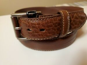 Brand New John Deere Leather Belt Alligator Design Size Brown Size 32