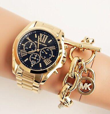 Original Michael Kors Watch Women's Watch mk5739 Bradshaw XL Color Gold New 691464951542 | eBay