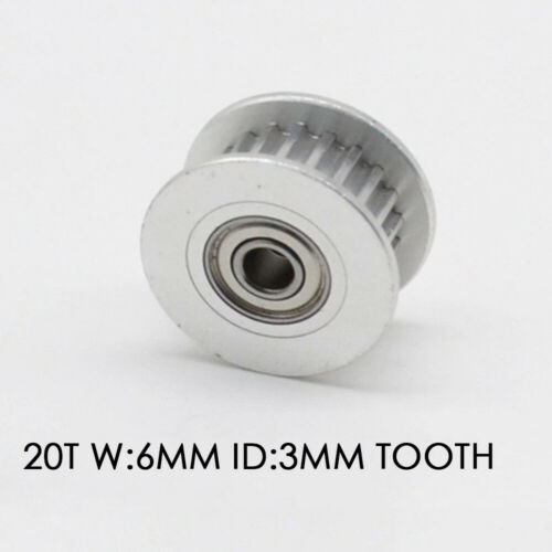 Aluminum GT2 Idler Timing Pulley Bearing 16T 20T 6//10mm Belt Tool For 3D Printer
