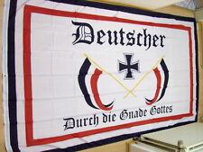 Fahnen Flagge Deutscher durch die Gnade Gottes 150 x 250 cm  *KOPIE*