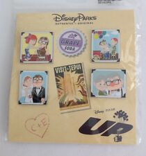 "DISNEY PARKS PIXAR  ""Up"" CARL & ELLIE THRU THE YEARS 4 PIN BOOSTER PACK ~ New"