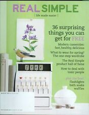 2007 Real Simple Magazine: Things You Can Get for Free/Modern Casseroles/Clothes