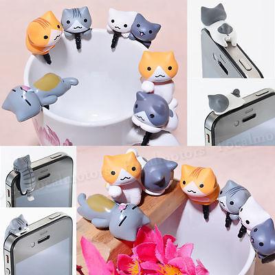 1PC Cheese Cat Anti Dust Plug Mini Earphone Cap Cute Dust Stopper Free Shipping