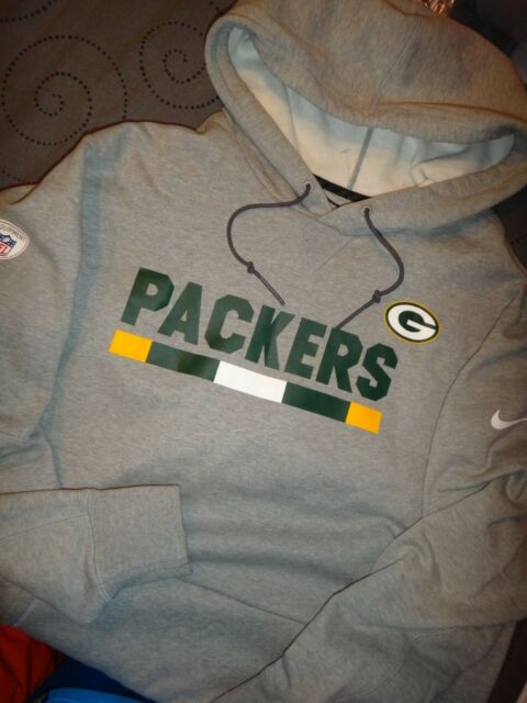 best website 628d6 9b4fd Nike Mens Heavy Pullover Hoodie Sweatshirt NFL Green Bay Packers Gray Size  3xl