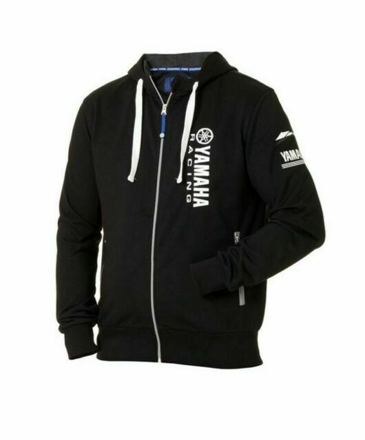 Genuine Yamaha Paddock Blue Men's Natori Black Hoodie Hooded Jacket NEW