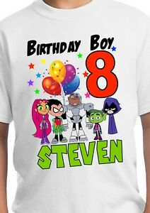Image Is Loading Teen Titans Go Inspired Shirt Personalized Birthday