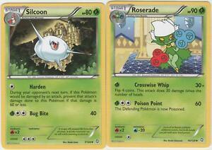 Uncommon Pokemon BW6 Dragons Exalted M//NM English x4 Silcoon 7//124