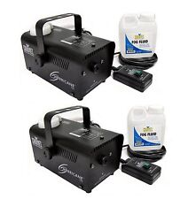 Chauvet DJ Hurricane Pro Fog Smoke Machine with Fog Fluid and Remote (2 Pack)