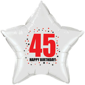 Image Is Loading 45th Birthday Party Supplies Age 45 034 HAPPY