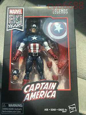 Marvel Legends Series 80th Anniversary Captain America Walmart Exclusive In Hand