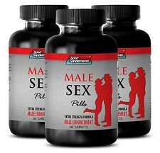 Testosterone Libido Booster - Male Sex Pills 1275mg - Improved Male Health  3B