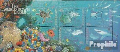 Unmounted Mint Never Hinged 1995 Sea Earnest Australia Block20iii complete.issue.
