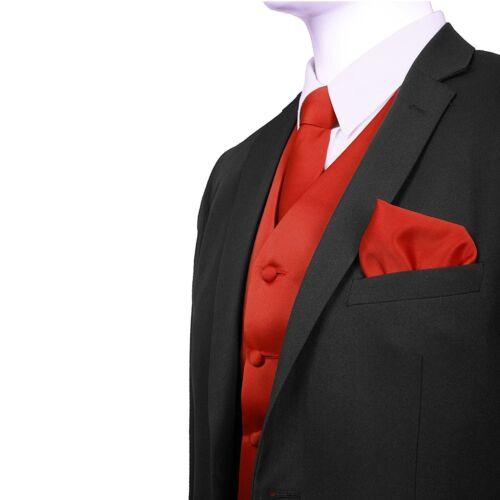 SET Vest Tie Hankie Fashion Men/'s Formal Dress Suit Slim Tuxedo Waistcoat Coat