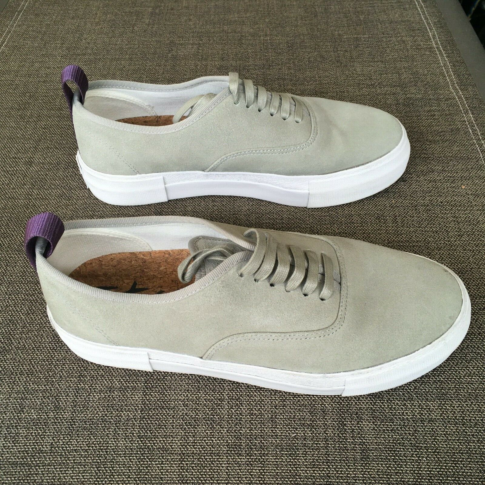 EYtys Mens Suede Skateboard Style Sneakers Gray S… - image 2