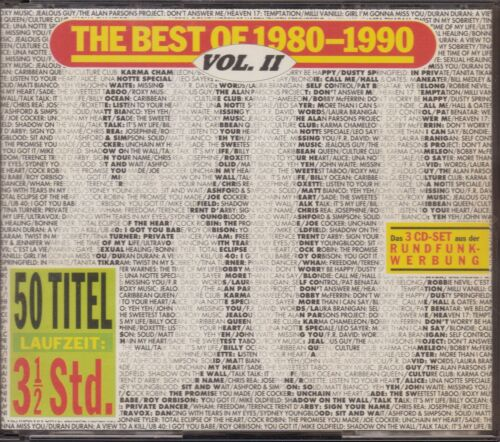 1 von 1 - CD-Album: The Best Of 1980-1990, Vol. 2 (Vol. II), 3 CDs