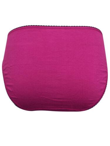 M/&S MAGENTA Cotton Rich Contrast Trim Bikini Knickers Plus Size 18 to 20