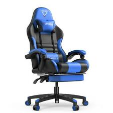 Pu Leather Gaming Office Chair High Back Ergonomic Desk Chair With Footrest