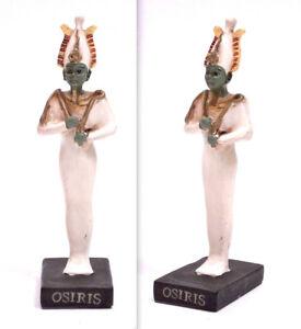 STATUINA-COLLEZIONE-IN-RESINA-DIVINITA-039-EGIZIA-OSIRIS-ANTICO-EGITTO