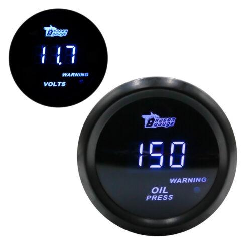 """2/"""" 52mm Digital LED Car Water Temp Gauge Temperature Meter Sensor,Oil Temp Gauge"""